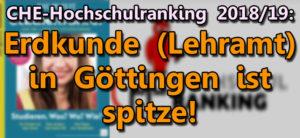 CHE-Ranking Spitzenwerte für Erdkunde Lehramt in Goettingen