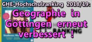 CE-Ranking Geographie in Goettingen erneut verbessert